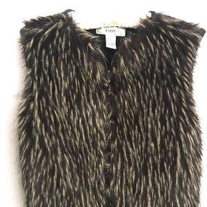 Kikit Studio Maurice Sasson  Faux Fur Sweater Vest